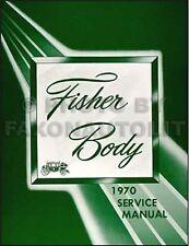 1970 Chevelle Body Shop Manual SS Monte Carlo Malibu El Camino Repair Service