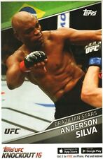 Anderson Silva 11x17 2016 Topps UFC Knockout Promo Poster Card 183 148 117 101