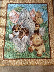 "Baby Quilt Handmade Unisex Crib Blanket Reversible 35"" x 43"" New"