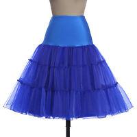 Rock n Roll Swing Mujer Enaguas Vintage Falda Tutú SKATER mid-skirt