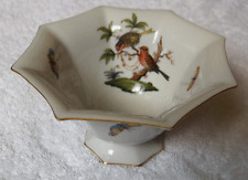 Herend Rothschild Bird small flared dish~retired piece~1930's mark~Pristine-NR