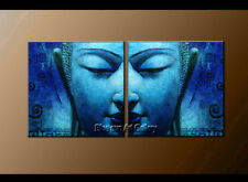 Large MODERN Buddha ABSTRACT OIL PAINTING Canvas Contemporary Wall Art Framed 62