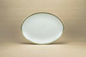 Pale Blue & Gold Serving Platter Athens Royal Doulton 4987 Greek Key Bone China