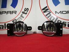 JEEP WRANGLER JL GLADIATOR JT LED Fog Light Kit w/ Brackets NEW OEM MOPAR