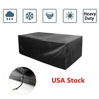 Waterproof Outdoor Rattan Furniture Covers for Patio Table Sofa UV Rain Cover US