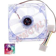 VENTOLA 80 LED MULTICOLOR BLU VERDE SILENT 80x80x25 MOLEX 4PIN PER CASE CHASSIS