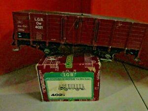 LGB 4021 Brown Gondola Train Car G Scale Train in Original Box Top