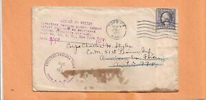WW I U.S MILITARY COVER CENTRAL DIRECTORY DIV PIER 86 TOPEKA KANS CENSORED