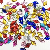 100pcs Mix  Rhinestones Flat Back Acrylic Gems Crystal Stones Sewing Beads