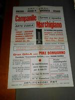 pubblicita' CONCORSO CANORO CAMPANILE MARCHIGIANO M.BONGIORNO vintage COLLEZIONE