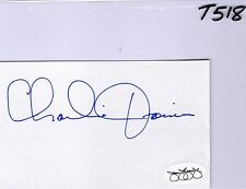 CHARLIE JOINER JSA COA AUTO INDEX CARD AUTHENTIC SIGNATURE - HOF CHARGERS - T518