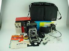 GRAFLEX CENTURY GRAPHIC 2x3 Camera w/100 F/3.5 Tessar, Gorgeous Set - BOXED