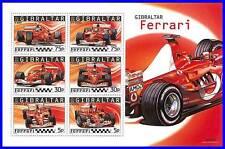 GIBRALTAR 2004 FERRARI CARS M/S SC#998a MNH CV$10.00 RALLY, SPORTS (3ALL)