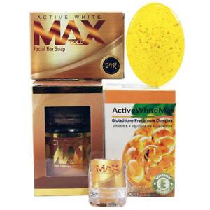 Active White Max Gold GIFT BOX Glutathione Precursors Gold Soap & Cream