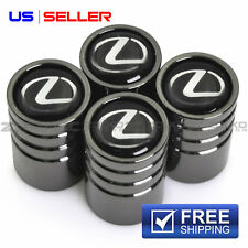 VALVE STEM CAPS WHEEL TIRE BLACK CHROME FOR LEXUS - US SELLER VE17