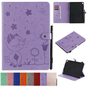Cat Bee Wallet Leather Flip Case Cover For iPad Air 4 Air 10.5 Pro 9.7 11 Mini 4
