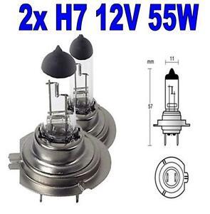 2x Ampoule Halogene H7 12V 55W pour VW MULTIVAN T5