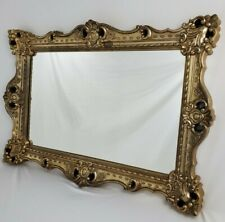 """New listing Vintage French Italian Mantle Mirror Rococo Gold Wall Hollywood Regency 39.5"""""""