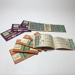 Green shield 9 Vintage stamp books Stamps 1950 1960 1970 6d Saver Book Big 10