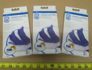 Lot of 3 Cat it Fresh & Clear Water Fountain Replacement Purifying Filters 50056