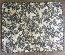 """Waverly Garden Room Black Toile French Cottage Pillow Sham 30""""x25"""" Excellent LW1"""