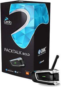 NEW Cardo Packtalk BOLD Single Bluetooth Motorcycle Intercom System JBL Speakers