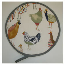 Aga Range Hob Hat Lid Mat Cover with Loop Cook Chicken Hens Chef Pad Pot Grab