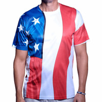Men's Patriotic USA American Flag T-Shirt Available in Sizes Small through 4X