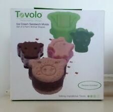 TOVOLO Ice Cream Sandwich Maker Mold FARM ANIMALS Three + Recipes