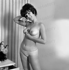 8x10 Print Sexy Model Pin Up Busty Brunette 1968 by Harrison Marks #M38