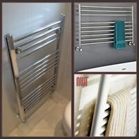 White, Chrome OR Polished Stainless Steel Heated Bathroom Towel Rail Warmers