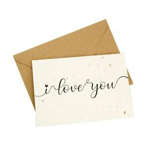 'I Love You' Design wildflower, plantable, eco-friendly card - Valentine's Day