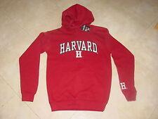 HARVARD CRIMSON  Embroidered Hooded Sweatshirt NWT NEW  ...  sz...   SMALL