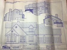Set 3 Blueprints 2 Story 3 Car Garage 4 + 2 Bedroom Home House Huge Master Suite