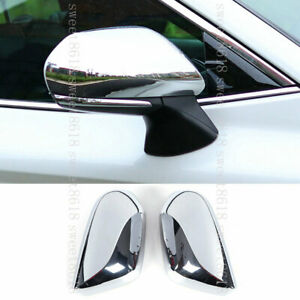 For Toyota Avalon 2019 2* Bright Silvery Side Wing Mirror Rear-view Mirror Cover