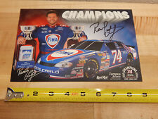 Randy LaJoie #74 Fina Racing 1998 Nascar Busch Series Autographed Photo Card