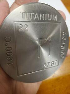 Titanium Bullion Round- Large 1 pound with reeded edges random design