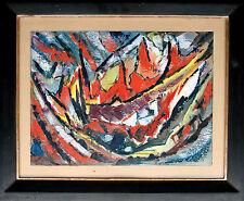 Fritz WEISS 1927-2014 Villingen: Expressive Abstraktion Ölbild 1968, 30 x 40 cm