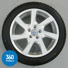 "NEW GENUINE VOLVO 17"" S60 7 SPOKE ALLOY WHEEL CONTINENTAL WINTER TYRE 31341738"