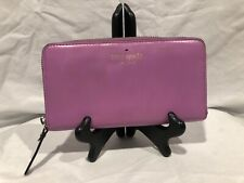 Kate Spade Lacey City Zip Around Wallet Lilac Purple Flaw