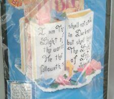 BUCILLA Bookends BIBLE HOLDER Plastic Canvas needle craft 6134 sealed Kit