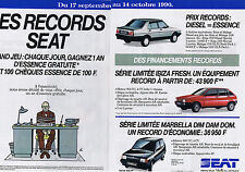 PUBLICITE ADVERTISING 064 1990 SEAT Les records   (2 pages)