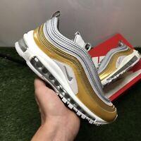 Nike AIR MAX 97 SE Vast Grey/Metallic Silver Gold AQ4137 001 Women's Sz 6