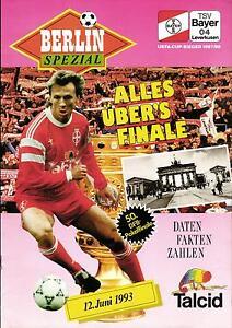 DFB-Pokalendspiel 12.06.1993 Bayer 04 Leverkusen - Hertha BSC A, Edition Bayer