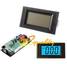 bloc d'alimentation tension panneau voltmètre 2 fils 3 1/2 Digital Blue LCD AC 80-500V