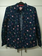 Boys Christmas shirt, long sleeve, button front age 7-8 years.