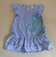 Designer dkny joli bleu pâle fleur robe imprimée 2 ans bébé fille 24 mois