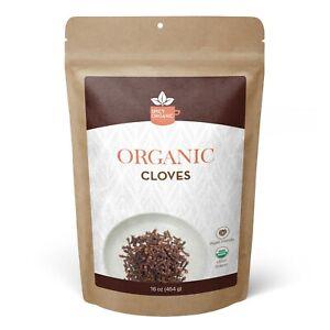 Organic Cloves Whole - Pure Clove Seed Spice - 16 OZ