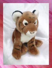 Peluche Doudou Tigre Assis Marron Et Blanc Gipsy 22 cm