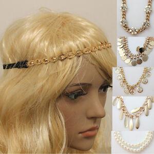 Retro Vintage Hippy Elastic Headband Hair Band Womens Head Piece Gatsby